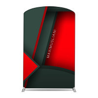 "58"" Curved Tube Fabric Banner Stand"