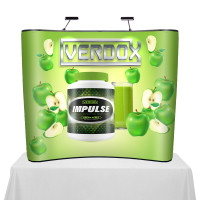 6ft. Hooked Table Top Curved Pop Up Displays
