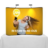 8ft. Hooked Table Top Curved Pop Up Displays