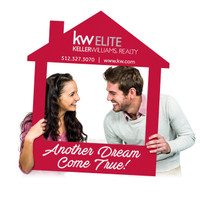 Custom Printed Selfie Frame for Real Estate Social Media Marketing - Custom Captioned House Cutout (Digital Files or Corrugated Plastic)