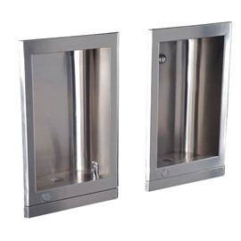 Barrier-Free Stainless Steel Recessed Drinking Fountain with Cuspidor