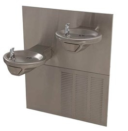 Oval Bowl Chilled Barrier-Free Wall Mount Bi-Level Drinking Fountain