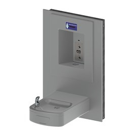 Rounded Box Barrier-Free Wall Mount Drinking Fountain with Sensor Activated Bottle Filler
