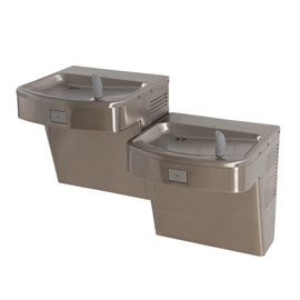Barrier-Free Wall Mount Universal Bi-Level Drinking Fountain - No Refrigeration