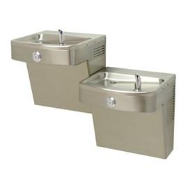 Barrier-Free Stainless Steel Vandal-Resistant Universal Bi-Level Wall Mount Water Cooler