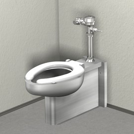 Floor Mount, Wall Outlet Toilet