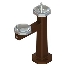 Bi-Level Bowls Architectural Style Drinking Fountain
