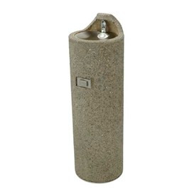 Round Concrete Pedestal Drinking Fountain