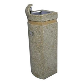 Square Concrete Pedestal Drinking Fountain