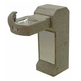 Barrier-Free Concrete Square Pedestal Drinking Fountain