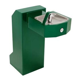 Barrier-Free Square Stainless Steel Pedestal Drinking Fountain