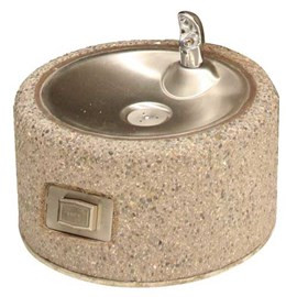 Round Concrete Pet Fountain