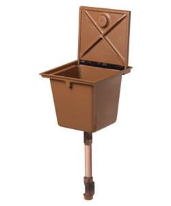 Bronze Ground Hydrant with Deep Box and Ductile Iron Cover