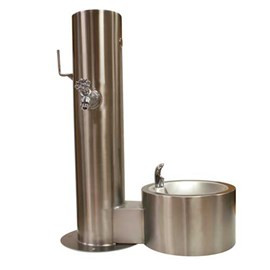 Pet Fountain with Hose Bibb