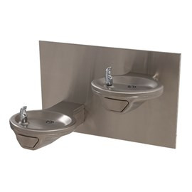 Oval Bowl Barrier-Free Wall Mount Bi-Level Drinking Fountain
