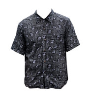 Vintage Grey 'Jungle Storm' Print Shirt