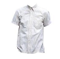 Cream & Olive Vintage Print Shirt