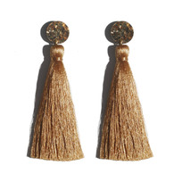 Martha Jean -Tassel Earrings - Bronze