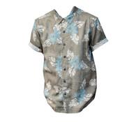 Vintage Khaki Hawaiian Print Shirt