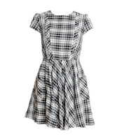 Vintage Black and White Check Dress