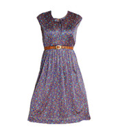 Vintage Purple Flower Bud Dress