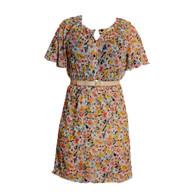 Vintage Floral Garden Print Dress