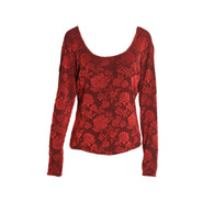 Vintage Red Rose 90's Top