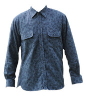 Vintage Grey Paisley Print Shirt