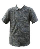 Vintage Green Paisley Print Shirt