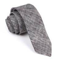 OTAA Black Linen Chambray Skinny Tie