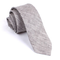 OTAA Grey Linen Chambray Skinny Tie