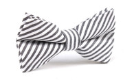 OTAA Black and White Chalk Stripes Cotton Bow Tie