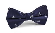 OTAA Navy Blue Anchor Bow Tie
