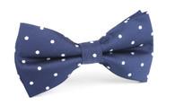 OTAA Navy Blue with White Polka Dots Bow Tie