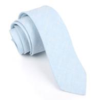 OTAA Light Blue Linen Chambray Skinny Tie