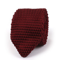 OTAA Dark Rosewood Maroon Pointed Knitted Tie