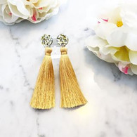 Martha Jean EXCLUSIVE Gold Tassel Earrings
