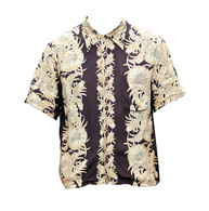 Vintage Chocolate Hawaiian Print Shirt