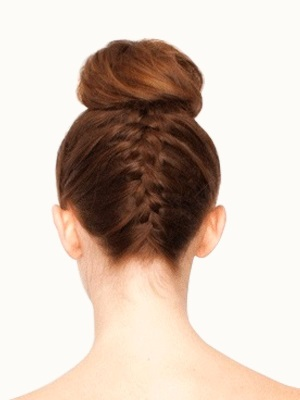 how to create an upside down french braid bun hairstyle