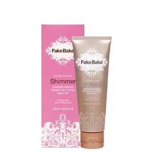 Fake Bake Golden Faux Glo Shimmer Instant Tan Lotion 4 oz