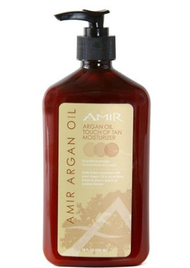 Amir Argan Oil Touch of Tan Moisturizer 18 oz.