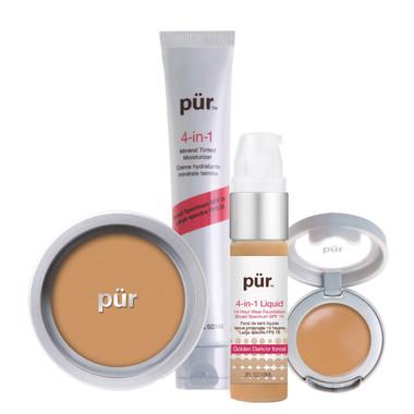 Pur Minerals 4-in-1 Complexion Kit - Dark (Golden Dark)