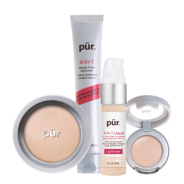 Pur Minerals 4-in-1 Complexion Kit - Light