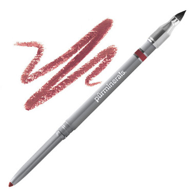 Pur Minerals Lip Pencil with Lip Brush - Ruby