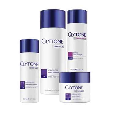 Glytone Step-Up Rejuvenate System - Normal to Dry Skin Step 1 Kit - 4 Pieces