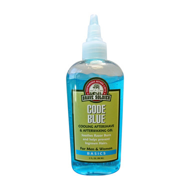 Brave Soldier Code Blue - Cooling Aftershave and Afterwaxing Gel - beautystoredepot.com