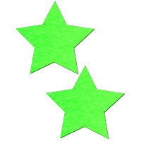 Neon Green & Glow-in-the-Dark Star Nipple Pasties