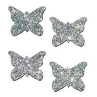 Petite Butterfly Pasties - Silver Glitter