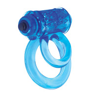 DoubleO 6 Vibrating Double Cock Ring - Side