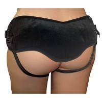 Plus Size Beginner's Black Strap-On - Back